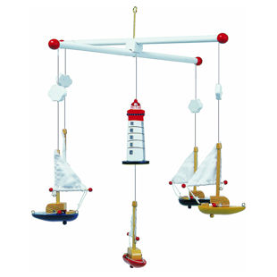Picture of Boats Mobile Toy Stand